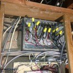 Before: Knob & Tube Wiring in a Junction Box