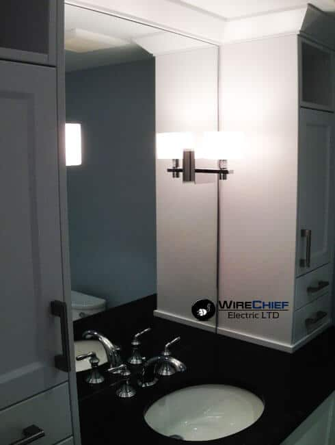 Vanity Lights Placement : Robson St. Condo Renovation and Lighting Upgrade