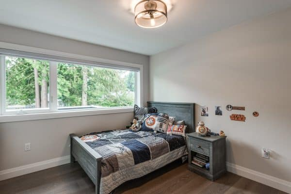 Custom Home New Build North Vancouver - Vancouver Electrician Contractor - bedroom
