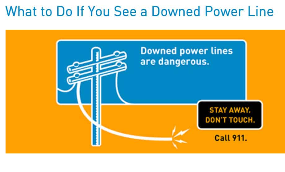 stay away from power lines